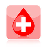 Blood droplet medical icon