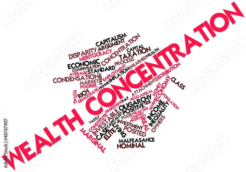 Word cloud for Wealth concentration