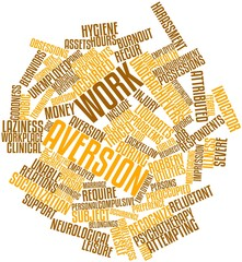 Word cloud for Work aversion
