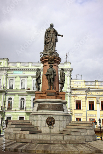 Monument to Empress Catherine the Great in downtown of Odessa