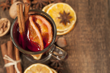 background with mulled wine