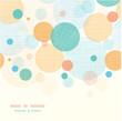 Vector fabric circles abstract seamless horizontal pattern - 48768723