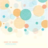 Vector fabric circles abstract seamless horizontal pattern