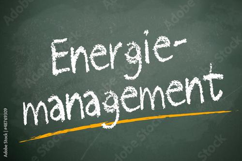 Kreidetafel mit Energiemanagement
