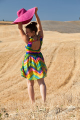 Summer girl in Tuscany