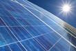 canvas print picture - Solarpark 7 Sonne
