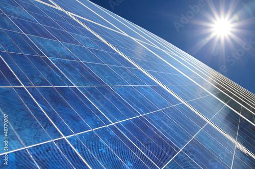 canvas print picture Solarpark 7 Sonne
