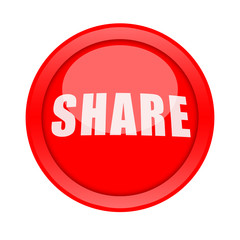 Share button isolated on white background
