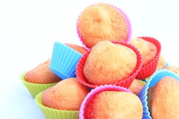 Muffins in colored matrix