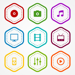 Media badges