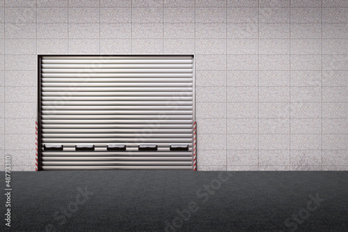 Delivery Gate at the back of a warehouse