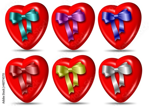 Heart and ribbon collection