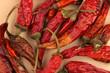 Getrocknete Peperoni und Chilli