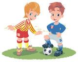 Fototapeta piłka nożna - dzieci - Poza Pracą / Sporty