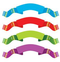 Bright ribbons set
