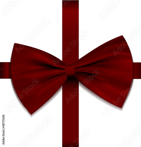 Bow on ribbon