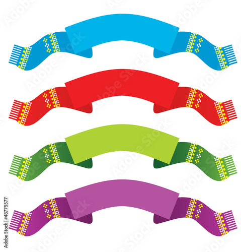 Bright ribbons set