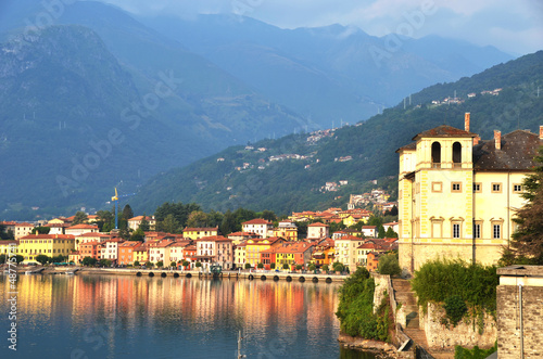 Gravedona town at the famous Italian lake Como
