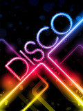 Fototapety Disco Abstract Colorful Lines on Black Background