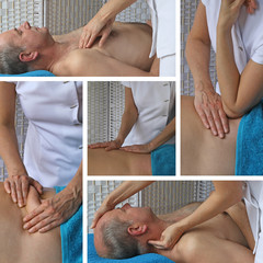 Sports Massage Techniques Collage