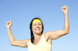 Fit healthy confident senior woman outdoor