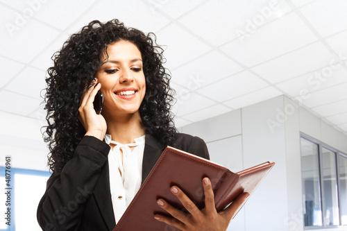 Busy businesswoman at work
