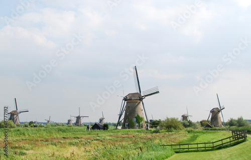 Windmill in Kinderdijk (Holland)  Unesco World heritage site