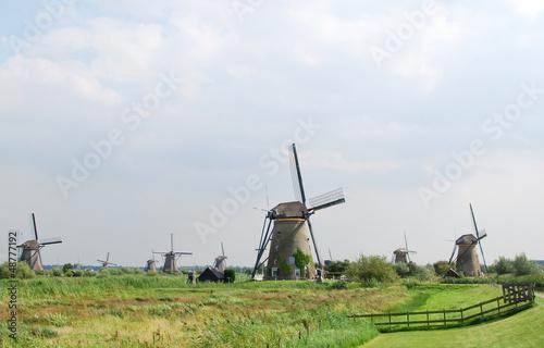 Windmill in Kinderdijk (Holland)  Unesco World heritage site