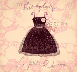 Vector vintage black dress