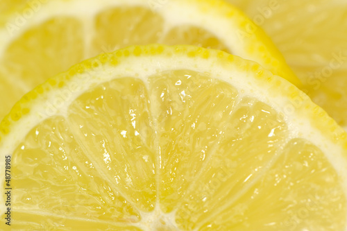 Lemon Slices Close-Up