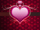 Pink heart and floral