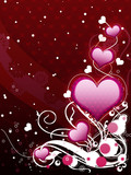 Pink hearts and floral