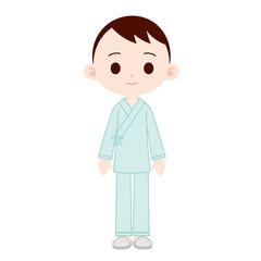 入院着の男性
