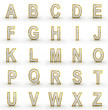 3D rendering of silver-gold alphabet.