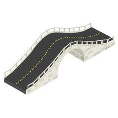 Isometric stone bridge