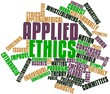 Word cloud for Applied ethics