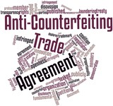 Word cloud for Anti-Counterfeiting Trade Agreement