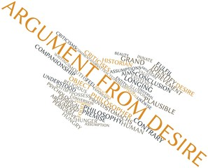 Word cloud for Argument from desire