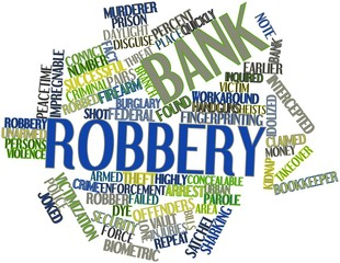 Word cloud for Bank robbery
