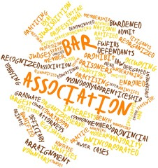 Word cloud for Bar association