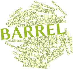 Word cloud for Barrel