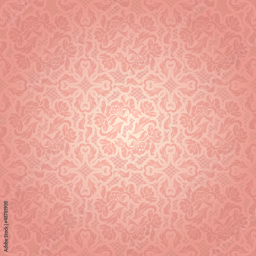 Decorative pink template