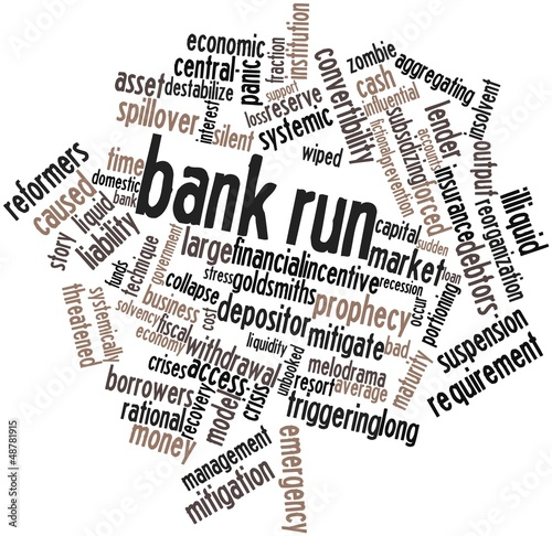 Word cloud for Bank run