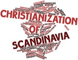 Word cloud for Christianization of Scandinavia