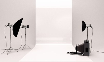 Set studio fotografico, pubblicità marketing