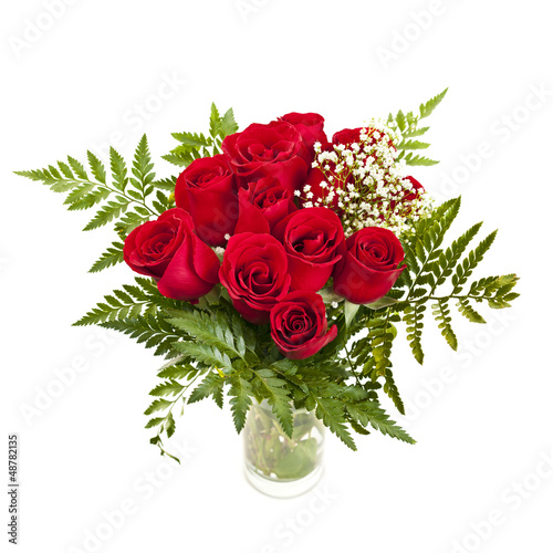 Bouquet of fresh red roses