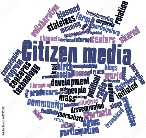 Word cloud for Citizen media