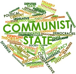 Word cloud for Communist state