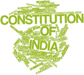 Word cloud for Constitution of India