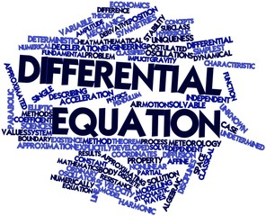 Word cloud for Differential equation